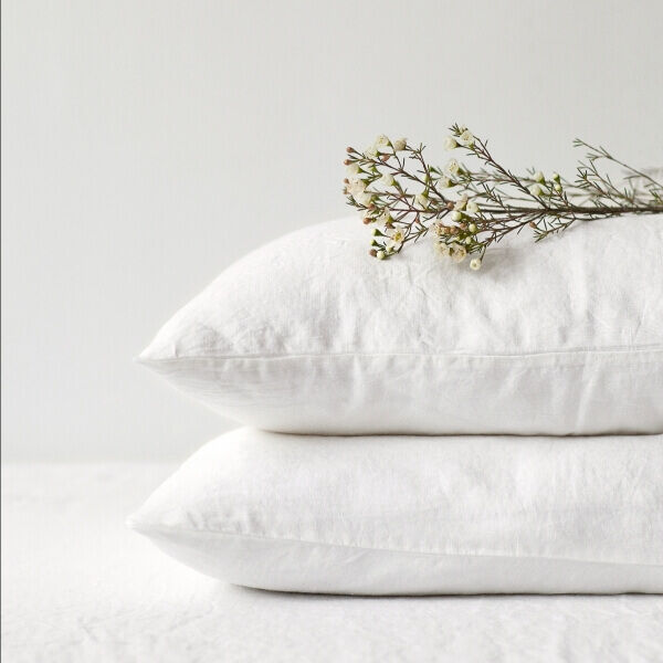 White Washed Linen Bed Set, Linen Tales, Lithuania