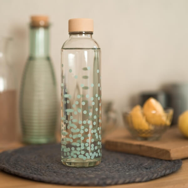 CARRY reusable glass water bottle 700ml - Pure Happiness