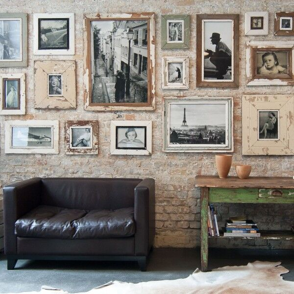 A3 square picture frame made from reclaimed timber, Luna Designs, South Africa