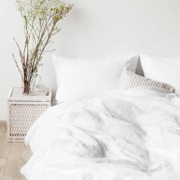White Washed Linen Bed Set - Lithuania