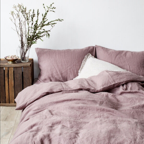 Ashes of Roses Washed Linen Bed Set - Lithuania