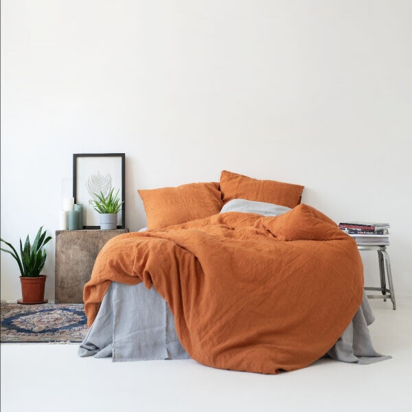 Almond Washed Linen Bed Set - Lithuania