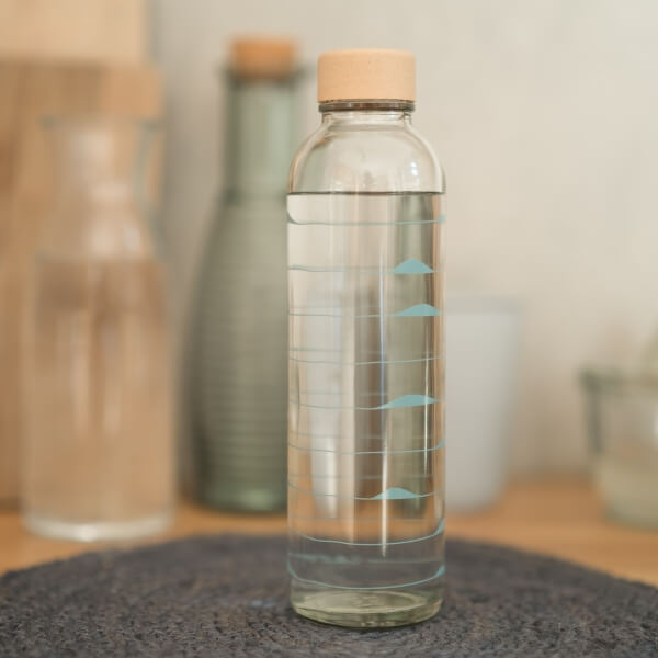 CARRY Glastrinkflasche 0,7l - Ocean Waves