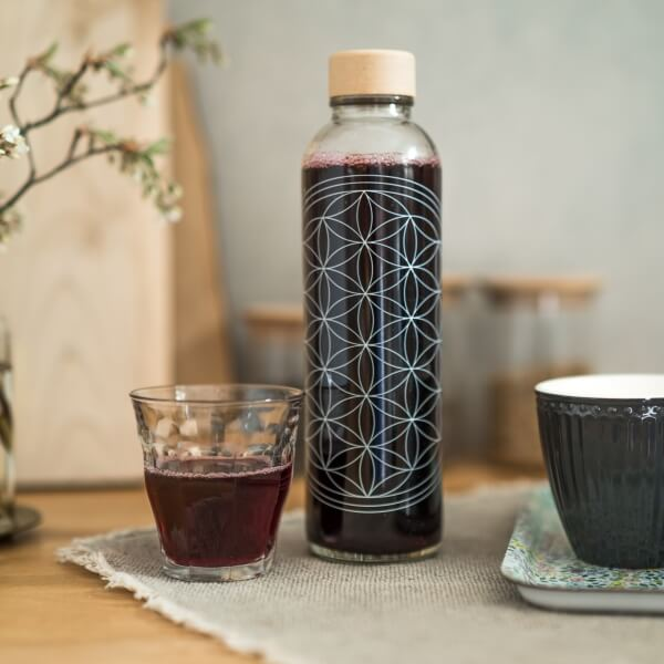 CARRY Glastrinkflasche 0,7l - Flower of Life