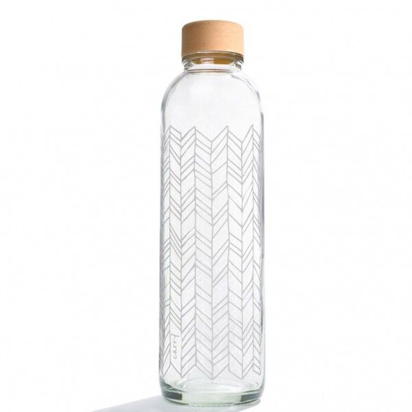 CARRY reusable glass water bottle 700ml - Structure of Life, CARRY, Germany