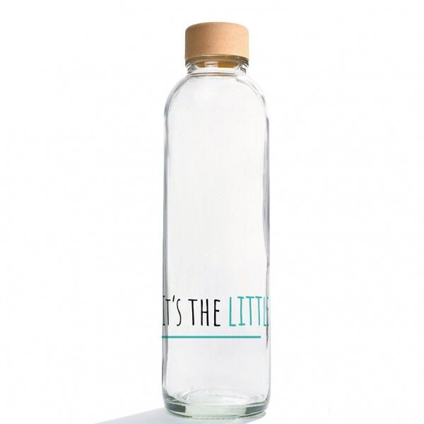CARRY reusable glass water bottle 700ml - Water is Life - Germany